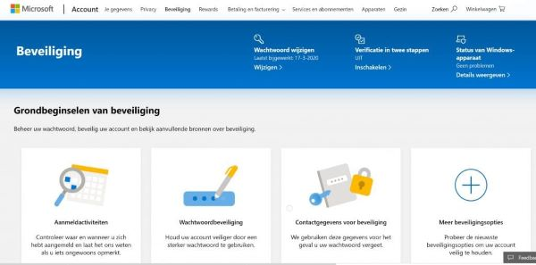 Beveiliging met tweestapsverificatie in Outlook