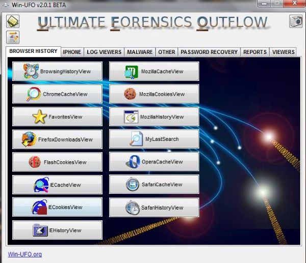 Ultimate forensics outflow