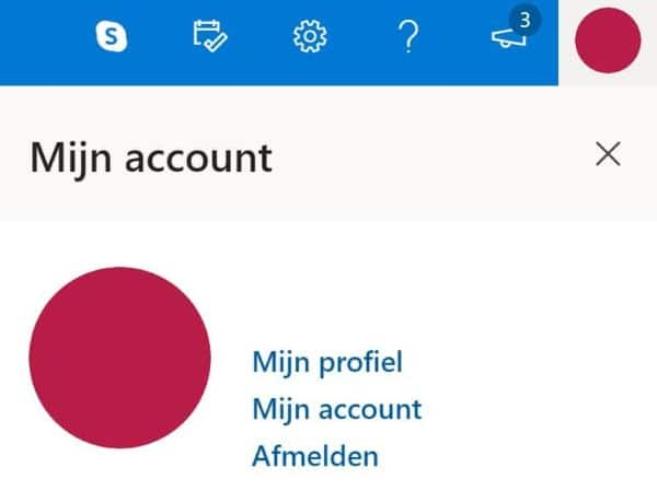 Mijn account Outlook